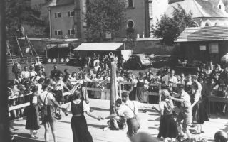 Celebration in the village of Maria Alm